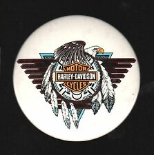 "Harley Davidson Motor Cycles 3"" pinback Eagle, metal covered with vinal  B31"