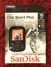 SanDisk - Clip Sport Plus 16GB - Bluetooth MP3 Player (Black) NEW FREE SHIPPING