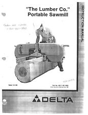 Delta Rockwell 36-360 The Lumber Company Portable Sawmill Instructions