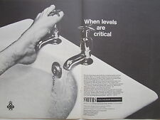 5/1968 PUB SMITHS AVIATION FUEL GAUGING EQUIPMENT BAIGNOIRE BATH ORIGINAL AD