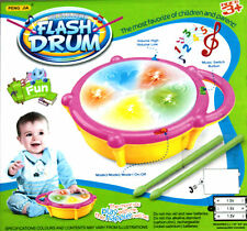 FLASH JAZZ DRUM & 2 STICKS LIGHT & SOUND BATTERY OPERATED BEST GIFT TOY FOR KIDS