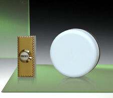 Wind Up Mechanical Doorbell, White, Brass Push with Porcelain Press - Model 851P