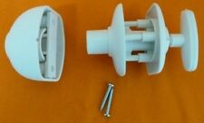 CARAVAN / MOTORHOME QUICK RELEASE DOOR LOCK RETAINER LOCKS  - WHITE