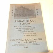 VINTAGE 1940-1941 CATALOG AUGUSTANA BOOK CONCERN SUNDAY SCHOOL SUPPLIES