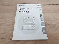 Originale Onkyo Bedienungsanleitung  für R-805TX   12 Monate Garantie*