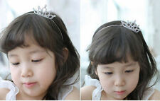 Girl Princess Rhinestone Crown Children Wedding Cute Prom Tiara Headband