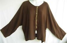 TIENDA HO~Dk Cocoa Brown~MOROCCAN COTTON~Asian Inspired Zawia Top~Free(M-1X?)
