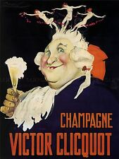 ADVERTISING DRINK ALCOHOL VICTOR CLIQUOT CHAMPAGNE FRANCE ART POSTER PRINT LV692