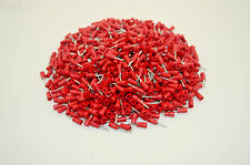 1000PCS Red Insulated Connector Crimped Pin Terminal PTV1.25-10 22-16AWG Wire