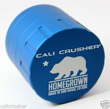Cali Crusher Homegrown Herb, Spice & Tobacco Grinder 4 Piece Aluminum Blue