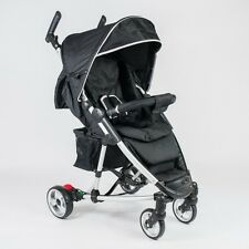 **NEW** Roma Rizzo Stroller in Black From Newborn, Large Hood + Accessories