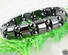 Beautiful!Black Magnetic Hematite Bracelet Therapy Healthy men's women's bangle