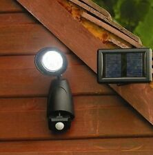 Solar Powered PIR Motion Sensor Security SpotLight Outdoor Lighting Garden Patio