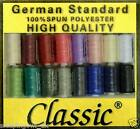 Sewing Machine Thread 1000y Spool Polyester Choice of Colours High Quality