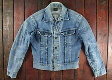 VTG 60s LEE 101-J SANFORIZED BLUE DENIM JEAN JACKET UNION MADE TRUCKER SMALL 38R