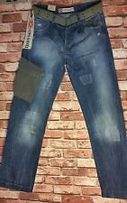 CIPO&BAXX MEN'S JEANS HIGH QUALITY JEANS PATCHWORK WITH EXACT BIG POCKET