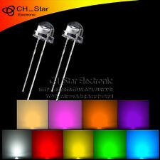 9x900pcs 5mm LED Diodes Straw hat White Red Green Blue Purple/uv Pink Mix Kits