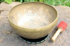 Tibetan Singing Bowl Set 35 cm diameter. Five Buddha Design.