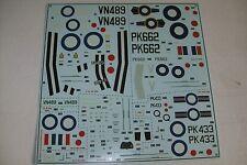 Airfix Supermarine Spitfire Mk22/24 06101 calcomanías de escala 1:48