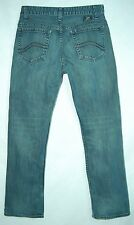 Whiskered DIRT WASH Mid Rise Boot Cut VANS Stitched Pocket Jeans! 28/30