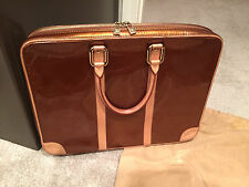 Authentic Rare Louis Vuitton Bronze Vernis Vandam Laptop Briefcase Bag Lock/Keys