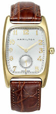 Hamilton American Classic Boulton Brown Leather Men's Watch H13431553 New Orig