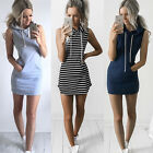Sexy Women Boho Summer Hooded Bodycon Sleeveless Sexy Party Cocktail Mini Dress