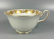 WEDGWOOD WHITEHALL (WHITE & GOLD) W4001 TEA CUP ONLY (PEONY SHAPE)