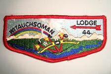OA WITAUCHSOMAN LODGE 44 MINSI TRAILS COUNCIL SCOUT PATCH BOW 3 PEACE PIPES FLAP