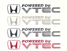 x2 Powered by VTEC Door Decals/Stickers for Civic/CRX/Integra