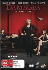 Damages : Season 5 (DVD, 2013, 3-Disc Set) R/4