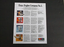 VINTAGE ENYA ENGINE COMPANY #1 R/C MODEL PLANE / HELI ENGINE BROCHURE *VG-COND*