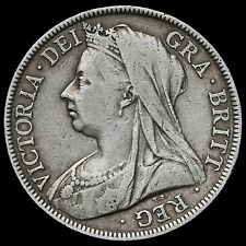 1895 Queen Victoria Veiled Head Silver Half Crown – VF