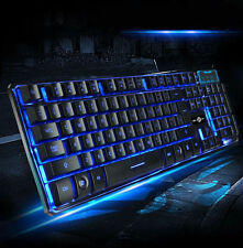 104 Key 3-Colors Illuminated Breathing LED USB Wired Backlight Gaming Keyboard