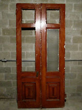 ~ ANTIQUE DOUBLE ENTRANCE FRENCH DOORS 48 x 103 ~ ARCHITECTURAL SALVAGE ~