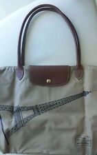 LONGCHAMP Le Pliage France Tour Eiffel Paris Beige Large Brown Bag Handbag NEW