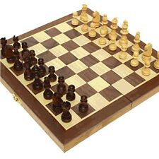 Wooden Chess Set Chessman with Board 12Inch Folding Magnetic Chess Play Game