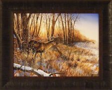 PASSING THE BUCK by Jim Hansel 17x21 Deer Hunting 17x21 FRAMED PRINT PICTURE