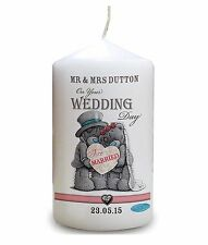 Cellini Candles Personalised Wedding Day Congratulations Tatty Teddy Present #1