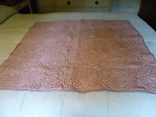 INDIAN HAND MADE PURE SILK THROW ETHNIC DECORATIVE ~ Possible up -cycling