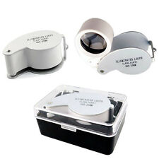 New 40x25mm LED Illuminated Jewellers Jewellery Loupe Magnifying Glass Eye Lens