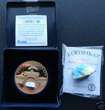 Commemorative medal of Reunification of Germany with piece of Berlin Wall