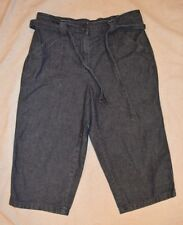 Womens Classic Elements Denim Jean Long Shorts ~ 10P ~ 19 Inseam ~ Belt