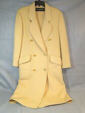 Vintage Louis Feraud Long 100% Cashmere Coat Size 4 Double Breasted Button Front