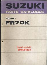 Suzuki FR70K (1973-on) Fully Illustrated Parts List/Catalogue FR70,FR 70 K,Moped