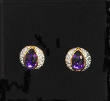 Joan Rivers 10 Color Evening Interchangeable Crystal accent Wardrobe Earrings