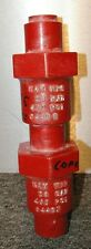 Vintage RED Wood Shaft Aluminum Numbers Lettering Pattern Foundry Casting Mold