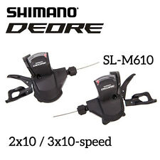 Shimano Deore SL- M610 2x10 3x10-Speed Shifter Levers Cable Set Rapidfire MTB