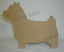 NORWICH DOG SHAPE MDF (123mm x 18mm thick)/WOODEN CRAFT SHAPE/BLANK DECORATION