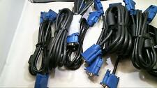 Lot of 10 Mix 15 Pin SVGA VGA Monitor Male To Male M/M Cable Cord for monitors